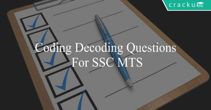 coding decoding questions for ssc mts