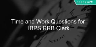 Time and Work Questions for IBPS RRB Clerk