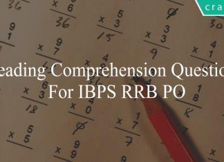 reading comprehension questions for ibps rrb po