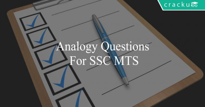 analogy questions for ssc mts