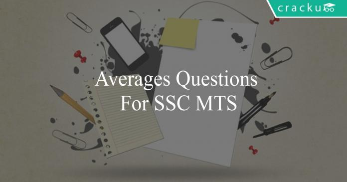 averages questions for ssc mts