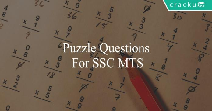 puzzle questions for ssc mts