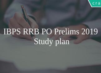 IBPS RRB PO 2019 Study Plan