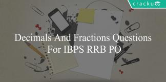 decimals and fractions questions for ibps rrb po