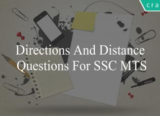 directions and distance questions for ssc mts