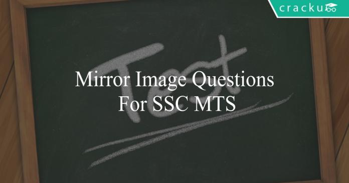 mirror image questions for ssc mts
