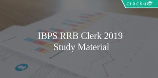 IBPS RRB Clerk study material