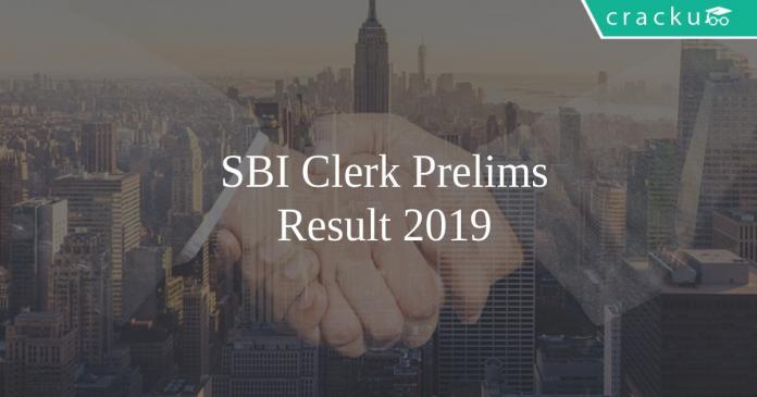 SBI Clerk Prelims Restult Direct Link