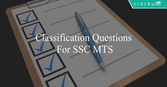 classification questions for ssc mts