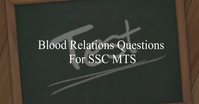 blood relations questions for ssc mts