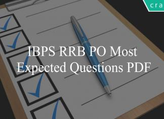 ibps rrb po most expected questions pdf