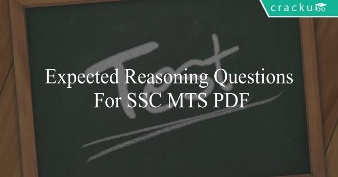 expected reasoning questions for ssc mts pdf