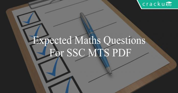 expected maths questions for ssc mts pdf