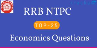 RRB NTPC Economics Questions
