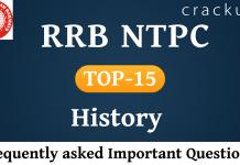 RRB NTPC GK Questions