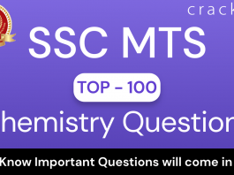 SSC MTS Chemistry Questions