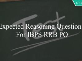 expected reasoning questions for ibps rrb po