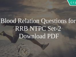 Blood Relation Questions for RRB NTPC Set-2 PDF