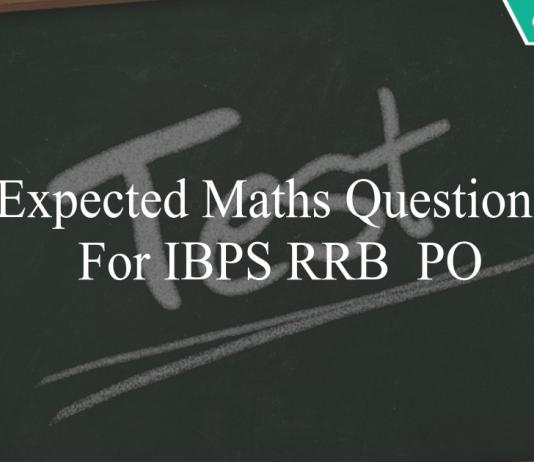 expected maths questions for ibps rrb po