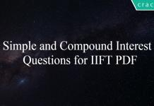 Simple and Compound Interest Questions for IIFT PDF