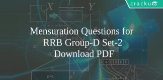 Mensuration Questions for RRB Group-D Set-2 Download PDF