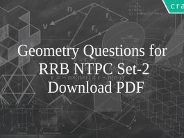 Geometry Questions for RRB NTPC Set-2 PDF