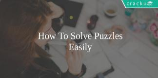 how to solve the puzzles easily