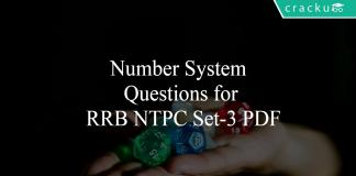 Number System Questions for RRB NTPC Set-3 PDF