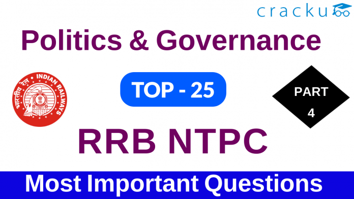 indian polity and governance questions for rrb ntpc exam