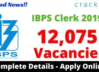 IBPS Clerk Notification 2019 PDF