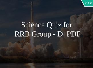 Science Quiz for RRB GROUP-D PDF