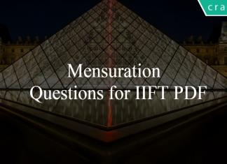 Mensuration Questions for IIFT PDF