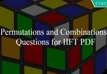 Permutations and Combinations Questions for IIFT PDF