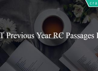 CAT Previous Year RC Passages PDF