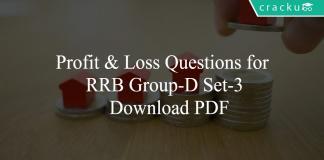 Profit & Loss Questions for RRB Group-D Set-3 PDF