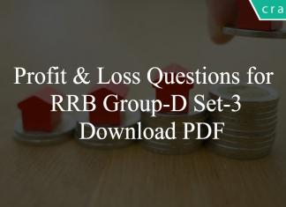 Profit & Loss Questions for RRB Group-D Set-3 PDF