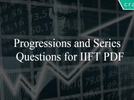 Progressions and Series Questions for IIFT PDF