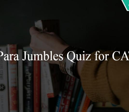Para jumbles Quiz for CAT