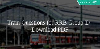 Train Questions for RRB Group-D PDF