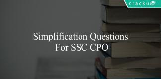 simplification questions for ssc cpo