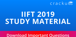 IIFT Study material important questions pdf
