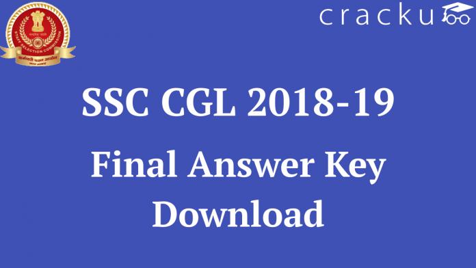 SSC CGL Final Answer Key 2019