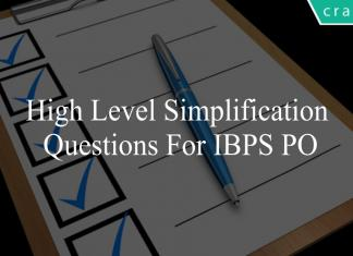 high level simplification questions for ibps po