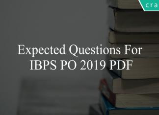 expected questions for ibps po 2019 pdf
