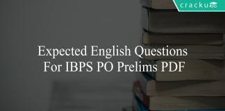 expected english questions for ibps po prelims pdf