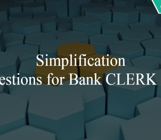 Simplification Questions for Bank CLERK PDF