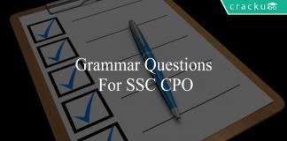grammar questions for ssc cpo