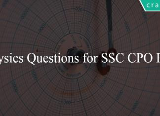Physics Questions for SSC CPO PDF