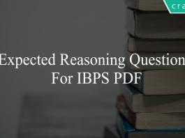 expected reasoning questions for ibps po