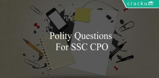polity questions for ssc cpo